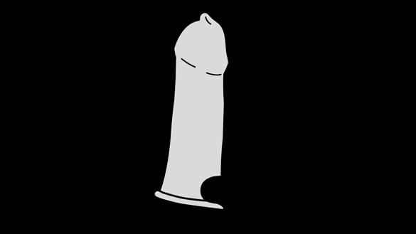 Darstellung zur Kondomverwendung - Schritt 4: Kondom abrollen Bild 3
